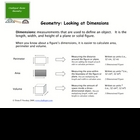 Geometry and Figure Dimensions: Math Study Guide