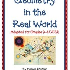 Geometry in the Real World- Adapted for Grades 2-4