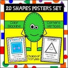 Geometry/2D Shapes Poster Set (with variations)