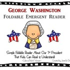 George Washington Emergent Foldable Reader ~Color & B&W~ P