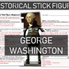 George Washington Historical Stick Figure (Mini-biography)