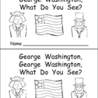 George Washington Kindergarten Emergent Reader- President&#039;s Day
