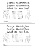 George Washington Kindergarten Emergent Reader- President's Day