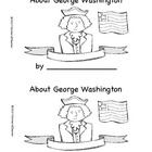 George Washington mini book/reader for President's Day