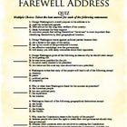George Washington's Farewell Address Quiz