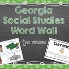 Georgia 3rd Grade Social Studies Word Wall