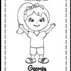 Georgia Coloring Page - The Primary Kids