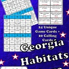 Georgia Habitats and Regions Bingo-Fun Test Prep!
