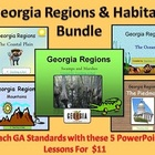 Georgia Regions &amp; Habitats Mega PowerPoint Bundle