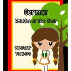 German Months of the Year Calendar Toppers - Free!