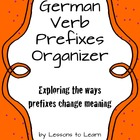 German Verb Prefixes Organizer