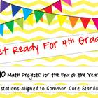 Get Ready for 4th Grade!  10 Math Projects For the End of