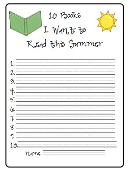 Get Ready for Summer Writing/Drawing Activities