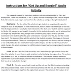 Get Up and Boogie Movement Activity and Recordings