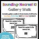 Get Up and Move! {A Rounding to the Nearest 10 Gallery Walk}