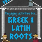 FREE Greek and Latin Root Word Activities