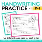 Getting It Write Printing Practice Pages for Traditional L