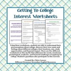 Getting Ready For College Worksheet