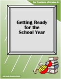 Getting Ready for the School Year (Classroom Preparation)