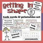 Getting in Shape – 2-D geometry task cards + printable set