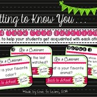 Getting to Know You . . . Back to School Task Card Challenge