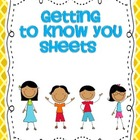 Getting to Know you sheets SPANISH version