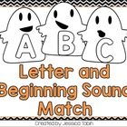 Ghost ABC and Beginning Sound Matching Game
