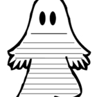 Ghost Halloween Writing Template