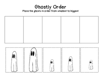ghosts, halloween, freebie, math, tallest, shortest, freebie