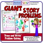 Giant Story Problems - Draw and Solve Word Problems