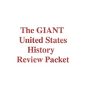 Giant United States History Review Packet