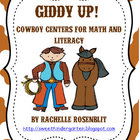 Giddy Up! Cowboy Centers for Math and Literacy