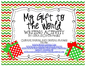 Gift to the World Writing Freebie