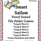 Giggly Games Smart Sailors Vowel Sounds File Folder Games