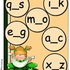Giggly Games Sunny Shamrocks Missing Letters File Folder Game