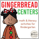 Gingerbread Activities: Math & Literacy Pack