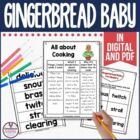 Gingerbread Baby Guided Reading Unit by Jan Brett Cooking 