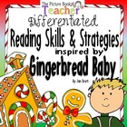 Gingerbread Baby Reading Skills &amp; Strategies Packet