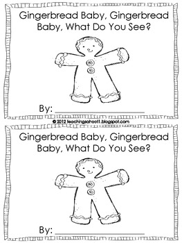 Gingerbread Baby mini-book