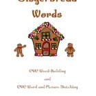 Gingerbread CVC Words: Build and Match