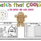 Gingerbread Catch that Cookie Free Literacy and Math Activity