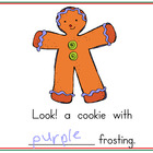 Gingerbread Color words for Promethean Board