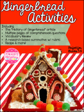 Gingerbread ELA Mini Unit w/ a Research Project! Holiday T