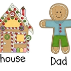 Gingerbread Family Write the Room