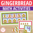 Gingerbread Fill The Frame:  Ten Frame Game