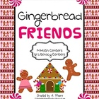 Gingerbread Friends Full Unit- Math &amp; Literacy Centers (20 total)