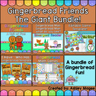 Gingerbread Friends Unit with Emergent Reader, Math Games,