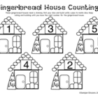 Gingerbread House Counting (Black and White)