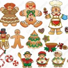 Gingerbread Joy Graphics Clip art