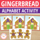 Gingerbread Letter Match Freebie